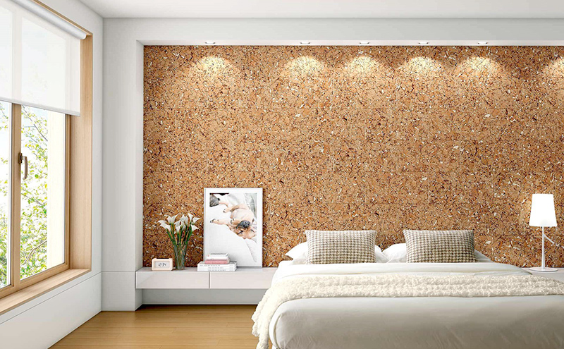 Cork Walls and Floors for a Summery Warm Feeling