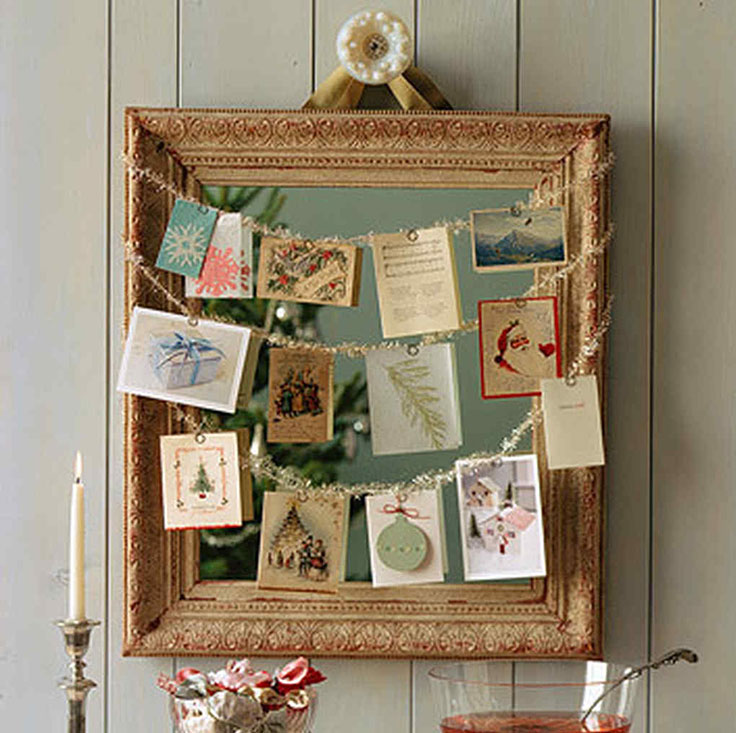 A beautiful card display with Christmas wishes