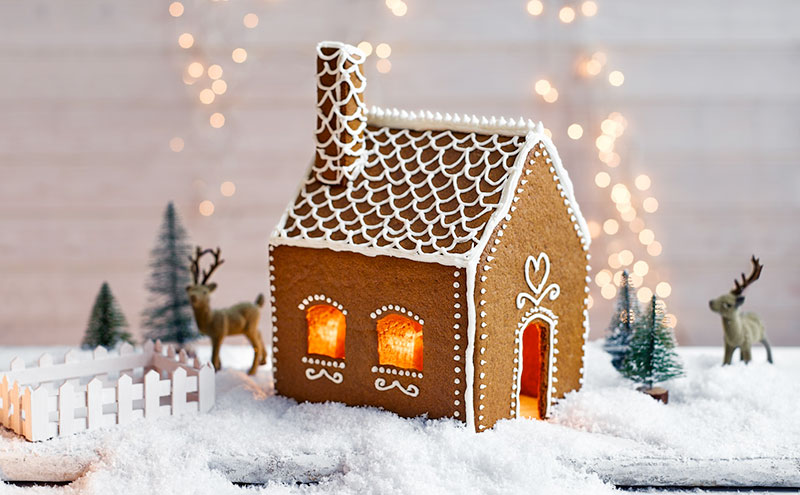 Building a gingerbread house can be a fun activity to demonstrate your artistic side