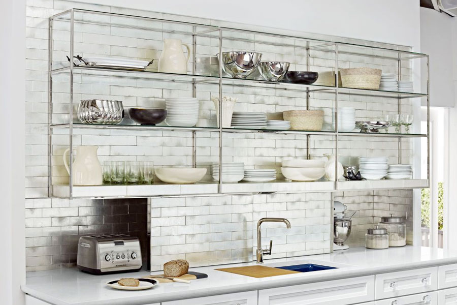 Alternative materials for kitchen cabinets.