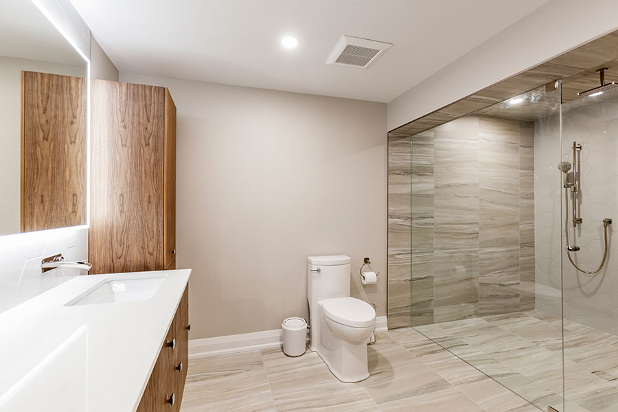 Basement Bathroom Remodel at Sugar Maple Lane in Loretto