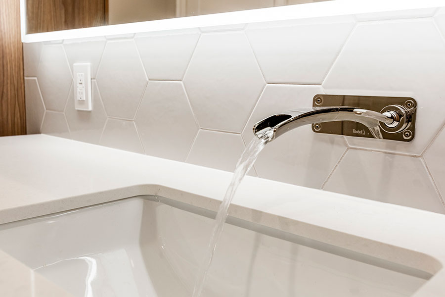 beautiful wall-mount faucet by Riobel from their Salome Series - Bathroom remodelling