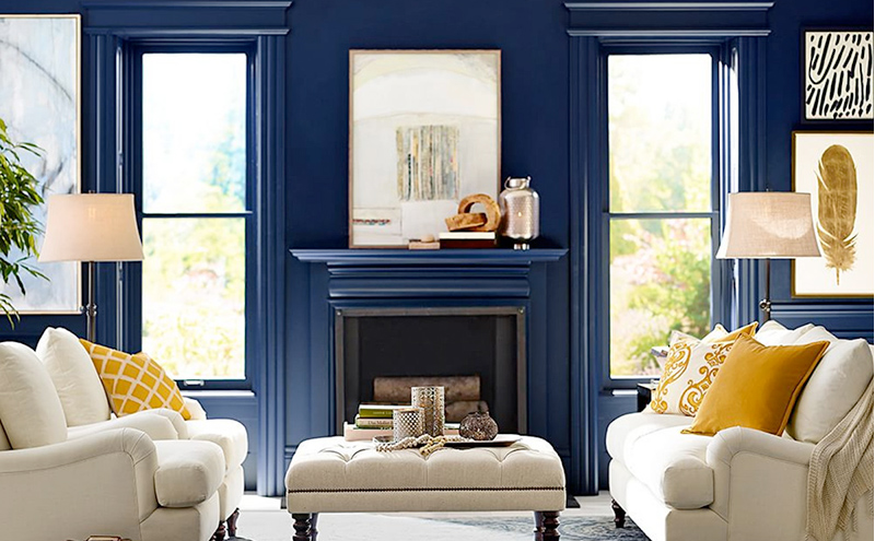 Use Blue for a- Calm Feeling in your Summer Reno