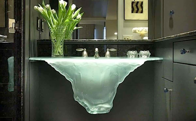 Glass sinks will complete your wet room look
