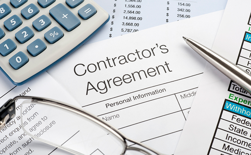 Review your contractor's contract for any hidden costs before signing in Vaughan