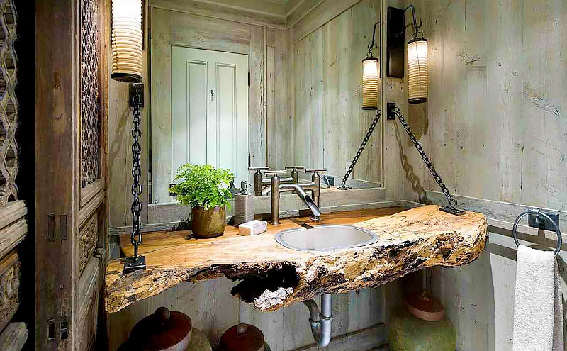 reclaimed wood will give your bathroom renovation a stylish look