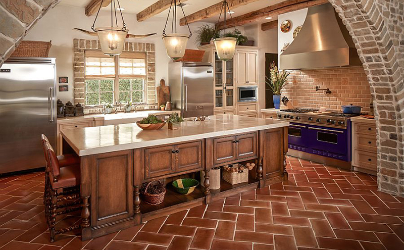 Terracota tiles will make your home feel warm in the fall