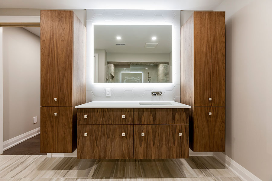 Vanico-Maronyx's vanity in Oiled Walnut finish