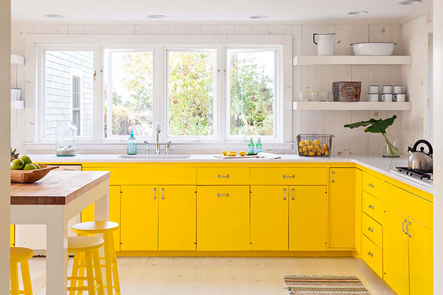Vibrant colour schemes for your spring kitchen.