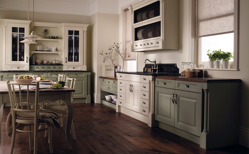 Wooden floors and dark green cabinetry are in this fall - Home improvement  Vaughan
