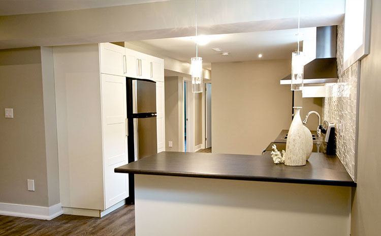 Basement kitchen renovation in Richmond Hill